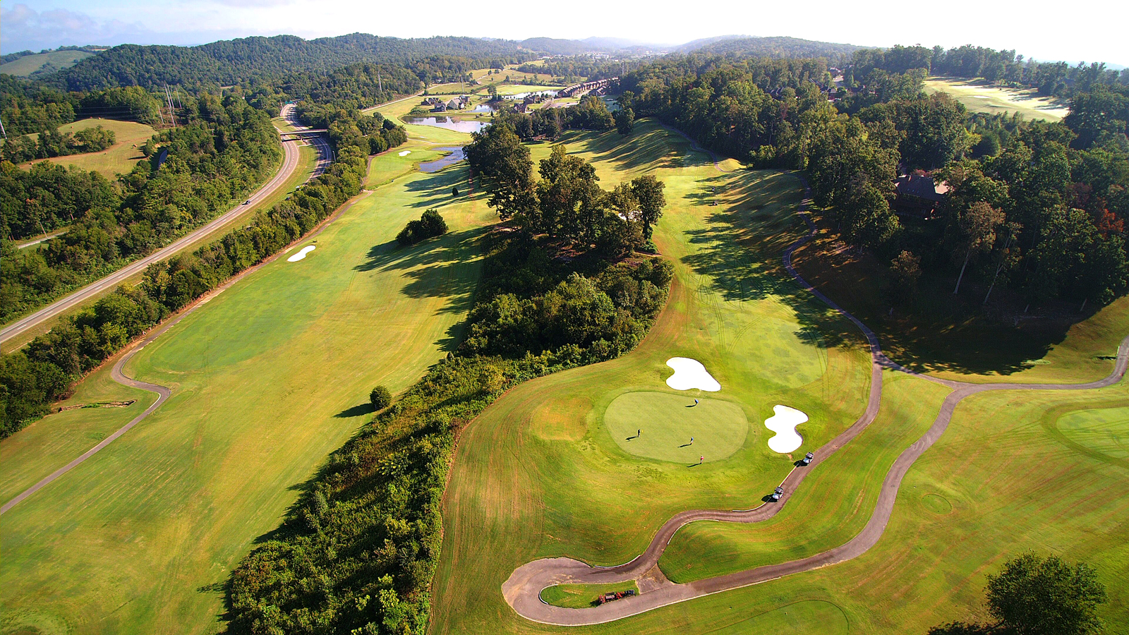 Drone Avalon Golf Course Community Photography in Knoxville Tennessee