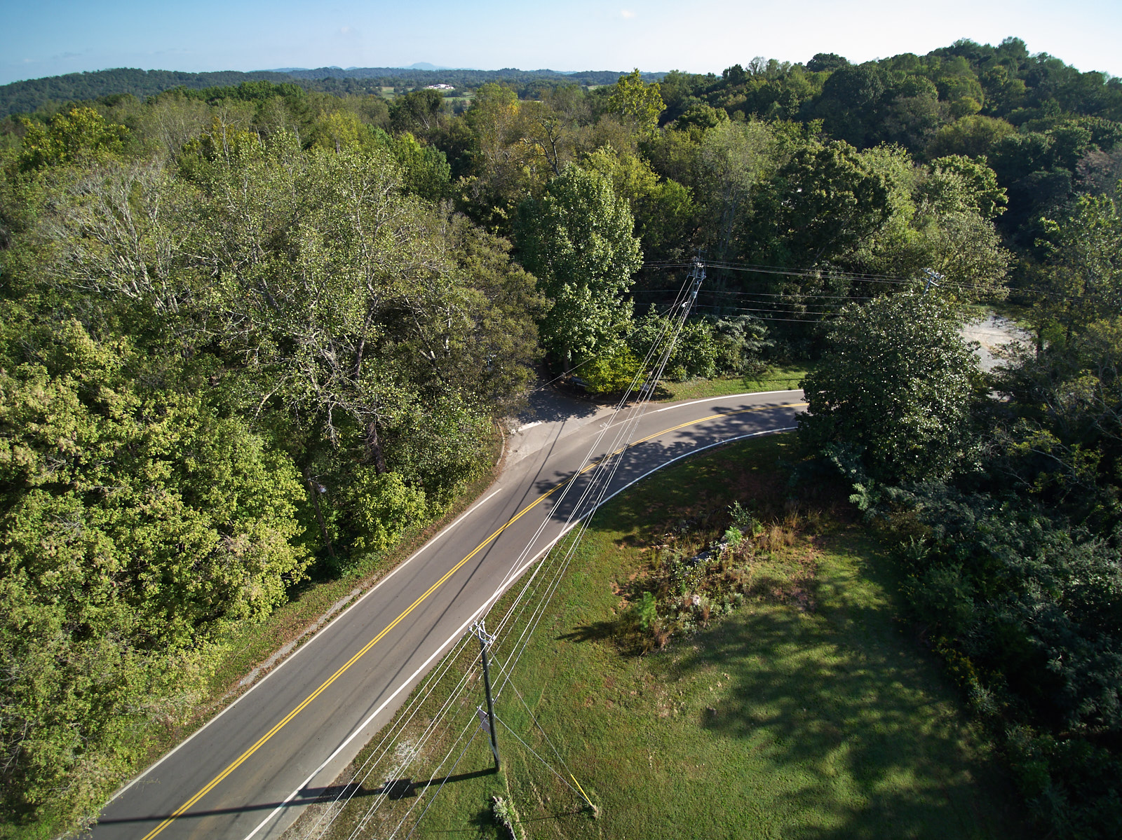 Drone Photography Ijams Nature Center New Entrance predesign Justin Fee Photography