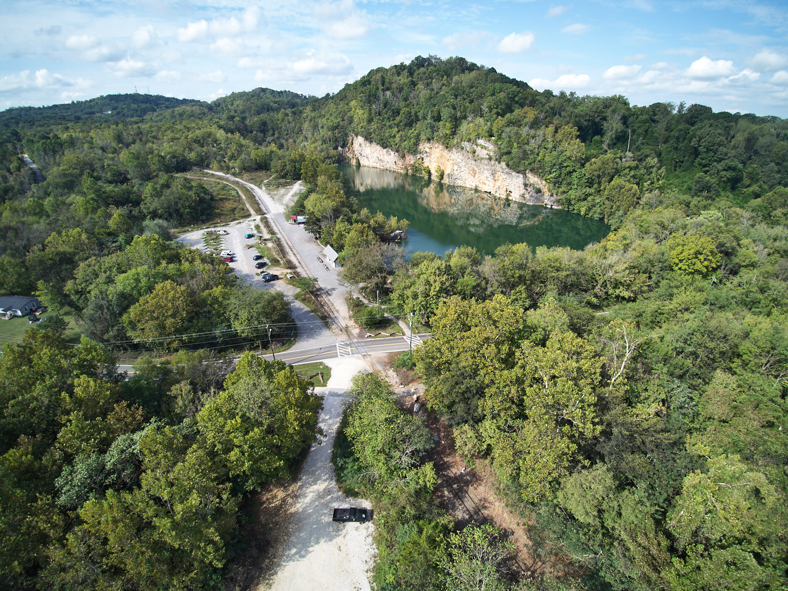 Drone Photography Ijams Nature Center Justin Fee Photography